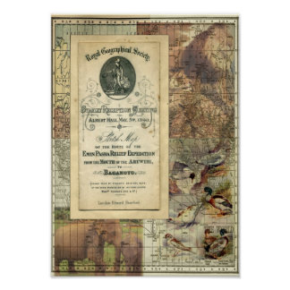 Royal Geographical Society Collage Print