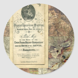 Royal Geographical Society Collage Sticker