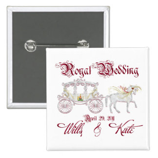 Royal Glass Coach Commemorate the Royal Wedding 2 Inch Square Button