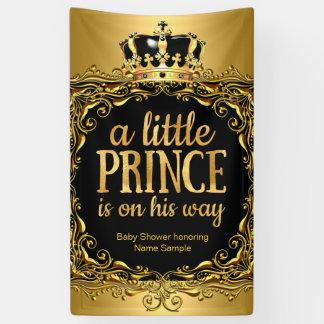 Royal Gold Black Crown Baby Shower Boy 3 Banner