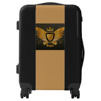 Royal Gold Black Luggage from Kailin Gow's Go Girl