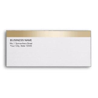 Royal Gold Border Pre-Addressed Business Envelope