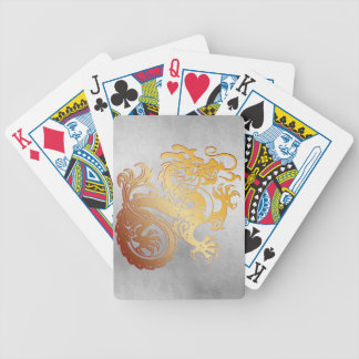 Royal Gold Dragon Play Cards - Distressed 1B