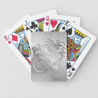 Royal Gold Dragon Play Cards - Distressed 1C Bicycle Card Deck