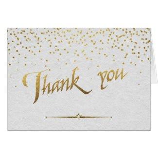 Royal Gold Foil Wedding Custom THANK YOU Card