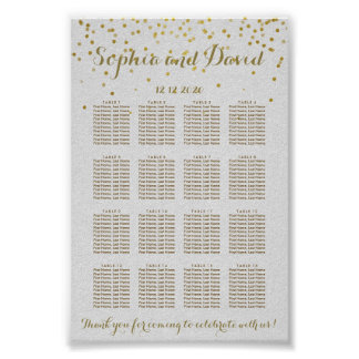 Royal Gold Foil Wedding Seating Chart