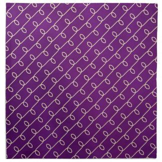Royal Gold in Purple Cloth Napkin
