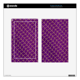 Royal Gold in Purple Kindle Fire Skins