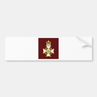 Royal Gold White Navy Cross Bumper Sticker