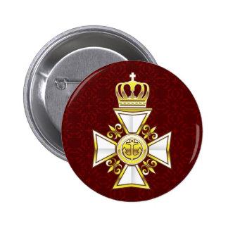 Royal Gold White Navy Cross Button