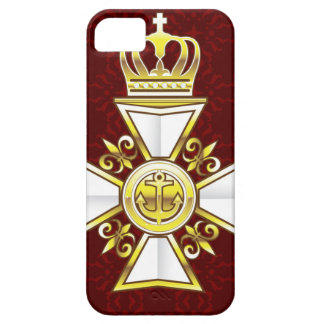 Royal Gold White Navy Cross iPhone SE/5/5s Case