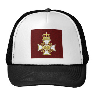 Royal Gold White Navy Cross Trucker Hat
