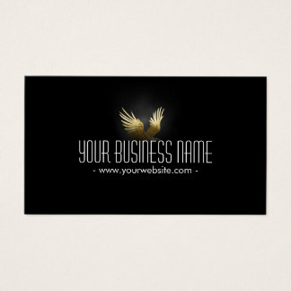 Royal Gold Wings in The Dark Business Card
