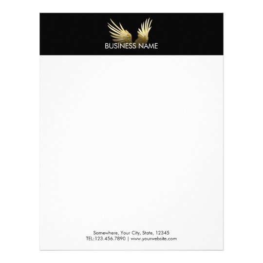 royal gold wings professional modern letterhead