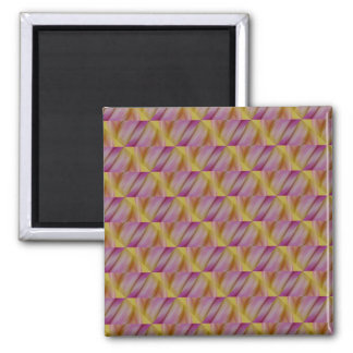 Royal Golden And Purple Abatract 2 Inch Square Magnet