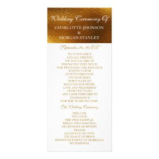 Royal Golden Shiny White Wedding Program