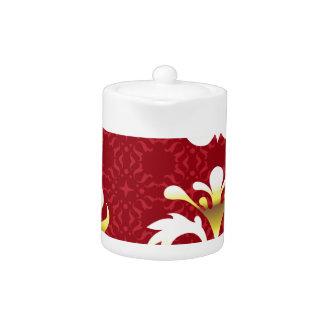 Royal golden Vector Floral Elements Teapot