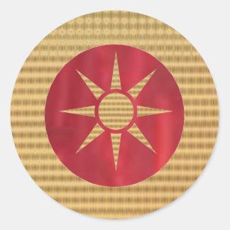 Royal Goldstar 2 Classic Round Sticker
