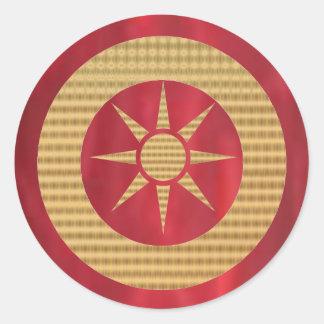 Royal GoldStar Golden Wheel of Fortune Classic Round Sticker