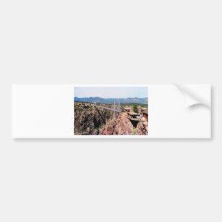 Royal Gorge Bridge,  the highest in USA Bumper Sticker