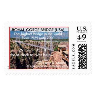 Royal Gorge Bridge,  the highest in USA Stamps