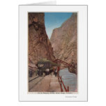 Royal Gorge, CO - View of the Hanging Bridge Card