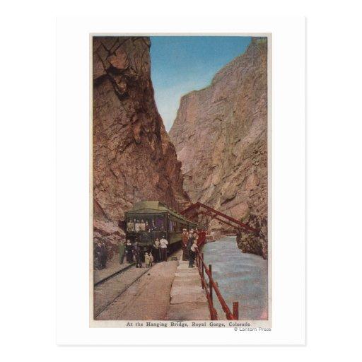 Royal Gorge, CO - View of the Hanging Bridge Postcard