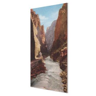 Royal Gorge, CO - View of Train , River Canvas Print
