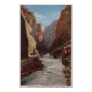Royal Gorge, CO - View of Train , River Poster