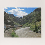 """Royal Gorge Route Railroad Design Puzzle<br><div class=""""desc"""">Jigsaw Puzzle featuring the Royal Gorge Route Railroad,  a heritage railroad that runs along the Arkansas River located in Ca&#241;on City,  Colorado.  Photo by the designer &#169;sjasis</div>"""