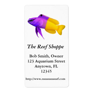 Royal Gramma Reef Fish Customizable Label
