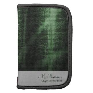 Royal green metallic look cool office folio planner