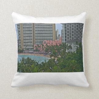 Royal Hawaiian Hotel, Honolulu, Hawai'i Throw Pillow
