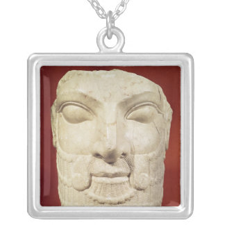 Royal head silver plated necklace