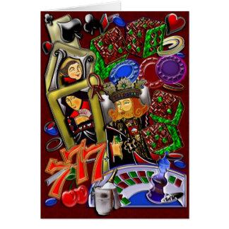 Royal Heart Flush, Casino Art Card