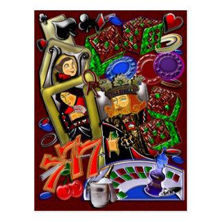 Royal Heart Flush, Casino Art Postcard