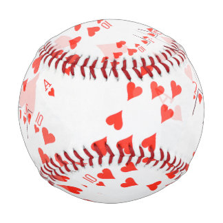 Royal Heart Flush Pattern, Baseball. Baseball