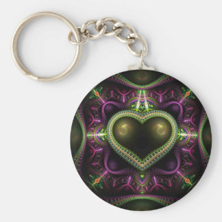 Royal Heart Fractal Keychain