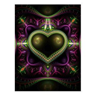 Royal Heart Fractal Postcard