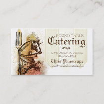 Royal horse fork chef catering business card