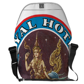 Royal Hotel Bangkok Vintage Travel Poster Courier Bag