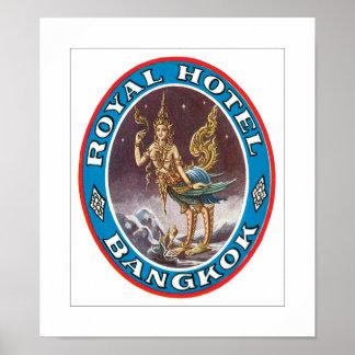 Royal Hotel Bangkok (white) Poster