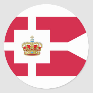 Royal House Of Denmark, Greenland Classic Round Sticker