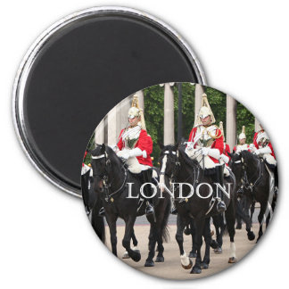 Royal Household Cavalry, London 2 Inch Round Magnet