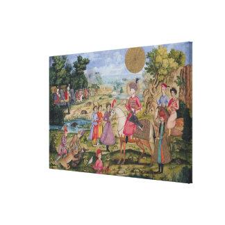 Royal Hunt, from Isfahan, Iran Canvas Print