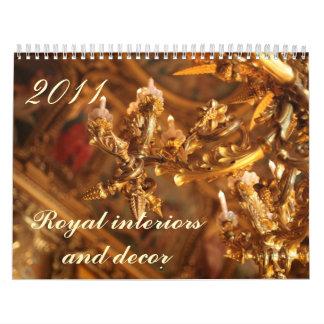 Royal interiors and decors calendar