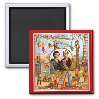 Royal Japanese Troupe 1892 2 Inch Square Magnet