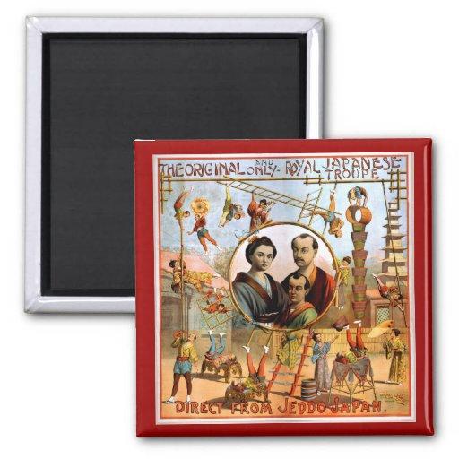 Royal Japanese Troupe 1892 Fridge Magnets