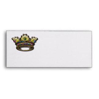 Royal jeweled crown envelope