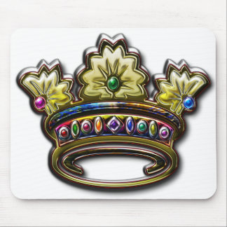 Royal jeweled crown mouse pad